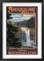 Framed Snoqualmie Falls Washington