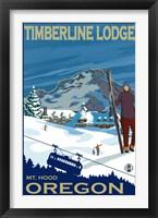 Framed Timberline Lodge Oregon
