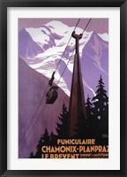 Framed Funiculaire Chamonix-Planpraz French