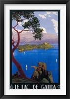 Framed Le Lac De Garda Lake Scene