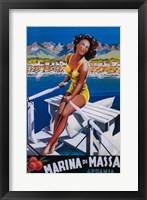 Framed Marina Di Massa Italian Ad