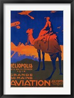 Framed Heliopolis Aviation Ad