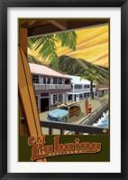 Framed Old Lahaina Hawaii Ad