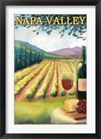 Framed Napa Valley Ad