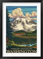Framed Paradise Valley Washington Ad