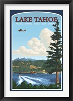 Framed Lake Tahoe Fishing Boating