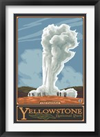 Framed Old Faithful Yellowstone Park Ad