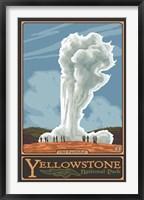 Framed Old Faithful Yellowstone Park Ad