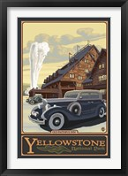 Framed Old Faithful Inn Yellowstone Ad