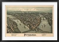 Framed Pittsburgh Map, 1902