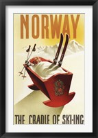 Framed Cradle Of Skiing Norway