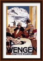 Framed Wengen Switzerland Ad