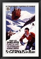 Framed St Gervais Les Bains Ad