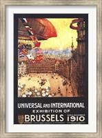 Framed Brussels 1910 Exhibition