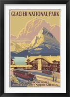 Framed Glacier National Park Ad