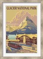 Framed Glacier National Park Ad