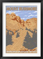Framed Mount Rushmore 1927 Ad