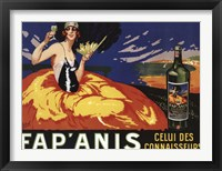 Framed Fap Anis Wine French
