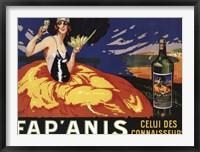 Framed Fap Anis Wine French