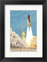 Framed Kennedy Space Center Ad