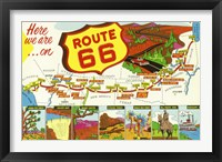 Framed Route 66 Here We Are