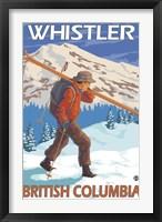 Framed Whistler British Columbia Ski