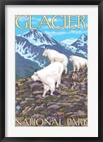 Framed Glacier National Park Mountain Ad