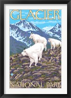 Framed Glacier National Park Mountain Ad
