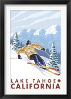Framed Lake Tahoe Mountain Ski