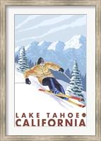 Framed Lake Tahoe Mountain Ski