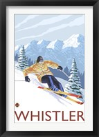 Framed Whistler Mountain Ski