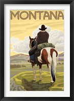 Framed Montana Cowboy On Hourse