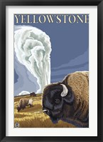 Framed Yellowstone Rams In Field