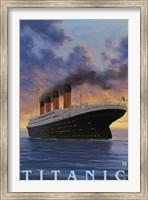Framed Titanic Yacht Ad