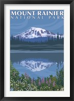 Framed Mount Rainier National Park I