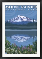 Framed Mount Rainier National Park I