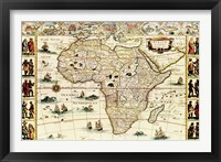 Framed Decorative Africa Map