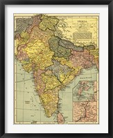 Framed Map of India