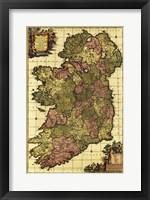 Framed Old Map of Ireland