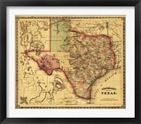 Framed Map of Texas