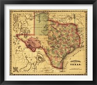 Framed Map of Texas