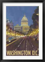 Framed Washington DC Capitol Building Ad