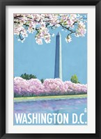 Framed Washington DC Monument Ad