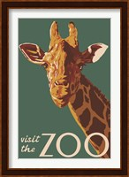 Framed Visite The Zoo Giraffe