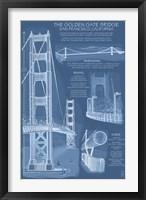 Framed Golden Gate Bridge Plans
