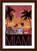 Framed Miami City Palms Scene