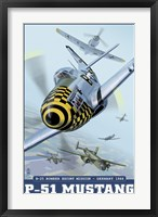 Framed P-51 Mustang Airplane Ad