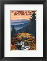 Framed Great Smoky Mountains Fall Park