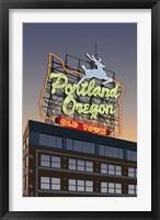 Framed Portland Oregon Factory