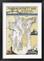 Framed Narragansett Bay Rhode Island